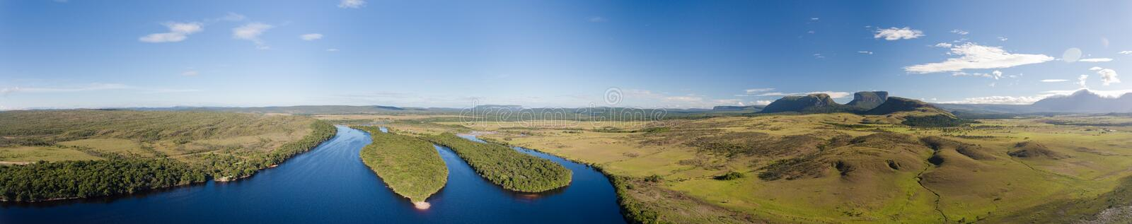 Panoramic view over Ucaima, Canaima, Venezuela royalty free stock photos