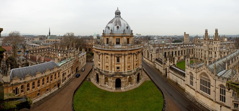 Panoramic view of Oxford stock photos