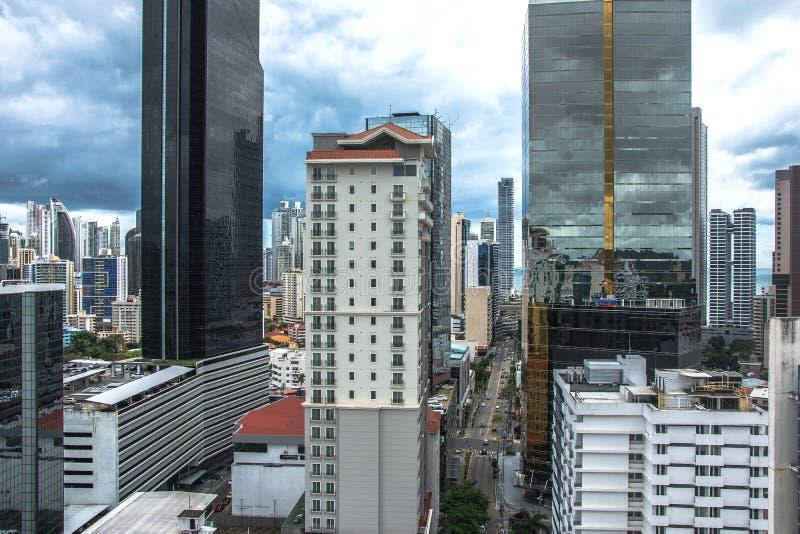 Panoramic view of Panama City Skyline stock image