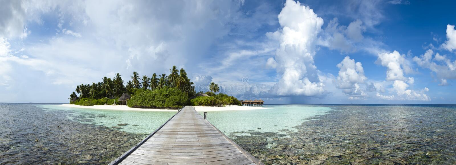 Download Panoramic View Of A Paradise Island Stock Photo - Image: 22932732
