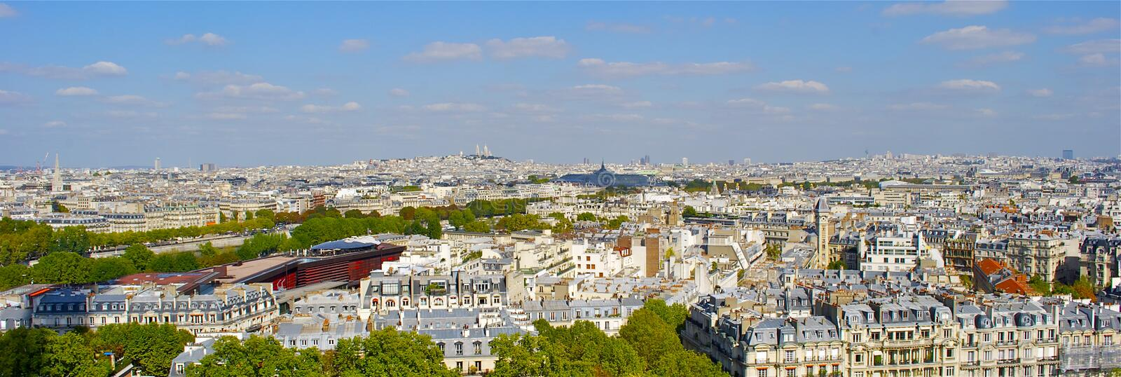 Download Panoramic view of Paris stock photo. Image of cruise - 26847826