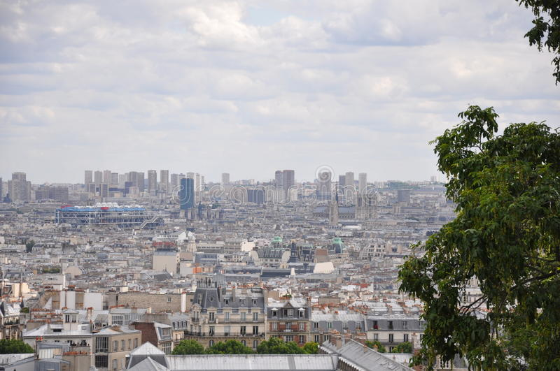 Panoramic view of Paris from the Sacre-Coeur royalty free stock photography