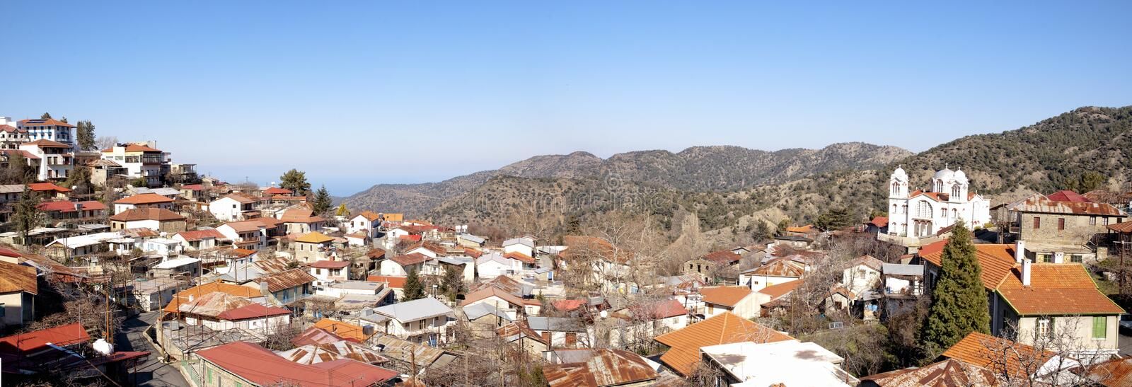 Download Panoramic View Of Pedoulas Village Stock Photo - Image: 17528888