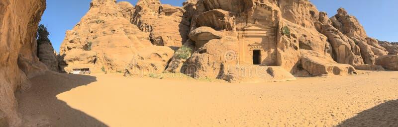 Panoramic View  of Petra Landscape stock photos