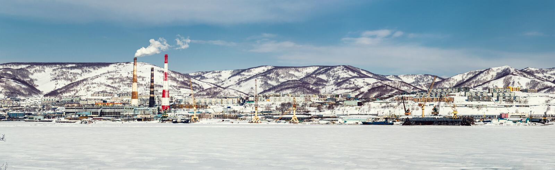 Download Panoramic View Of Petropavlovsk-Kamchatsky Seaport Stock Photo - Image: 39280926