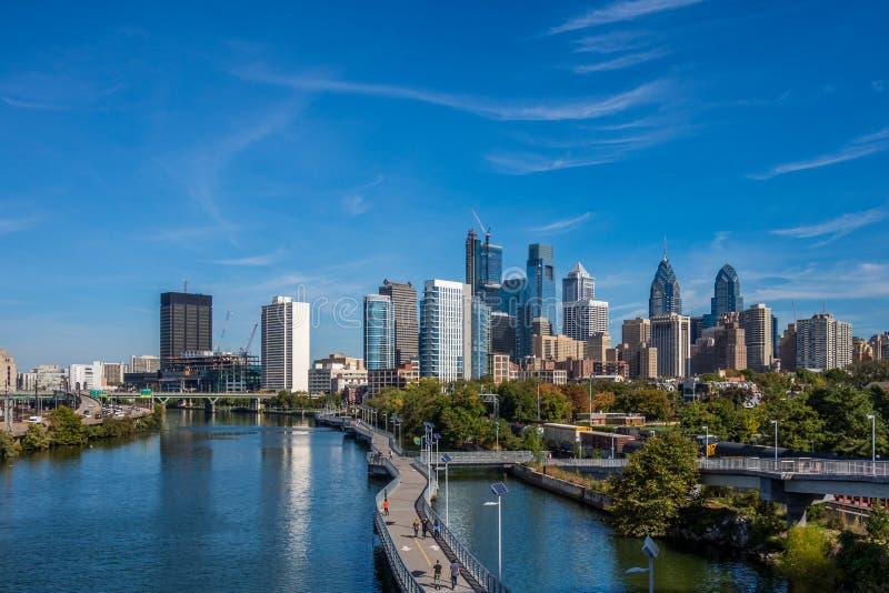 View of Philadelphia downtown. Panoramic view of Philadelphia downtown royalty free stock photography