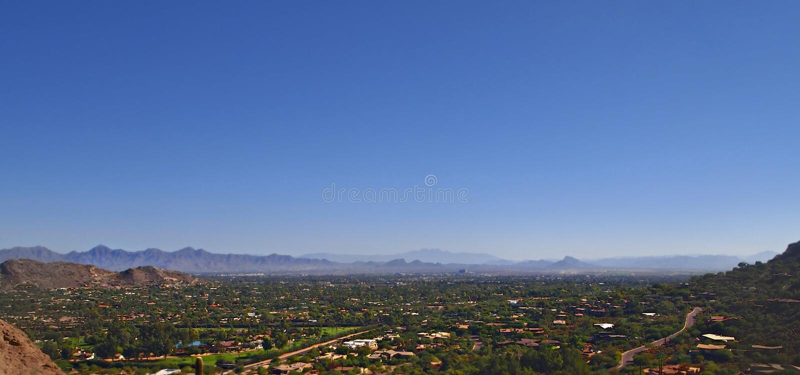 Panoramic View Of Phoenix, AZ Royalty Free Stock Photography