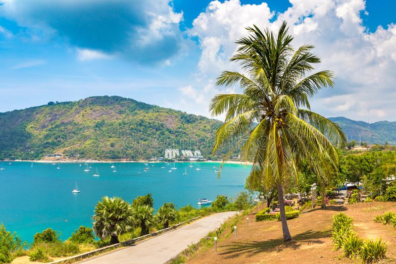 Panoramic view of Phuket royalty free stock photo