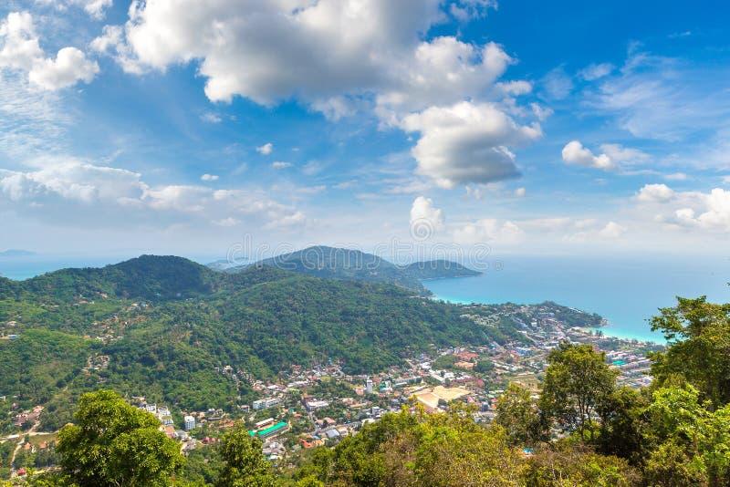 Panoramic view of Phuket stock photography