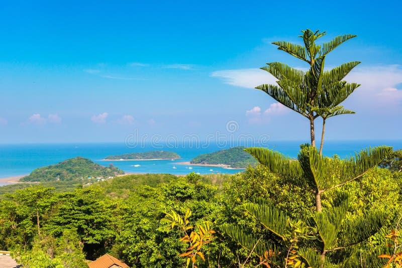 Panoramic view of Phuket royalty free stock images