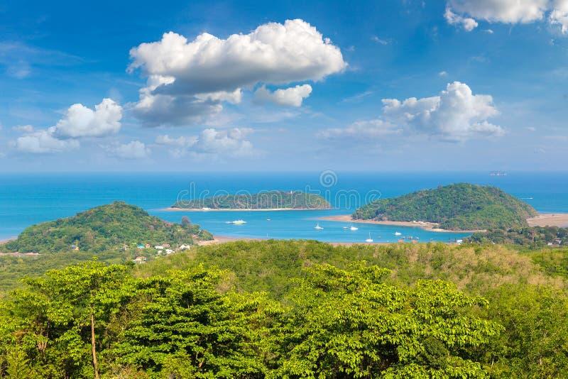 Panoramic view of Phuket stock image