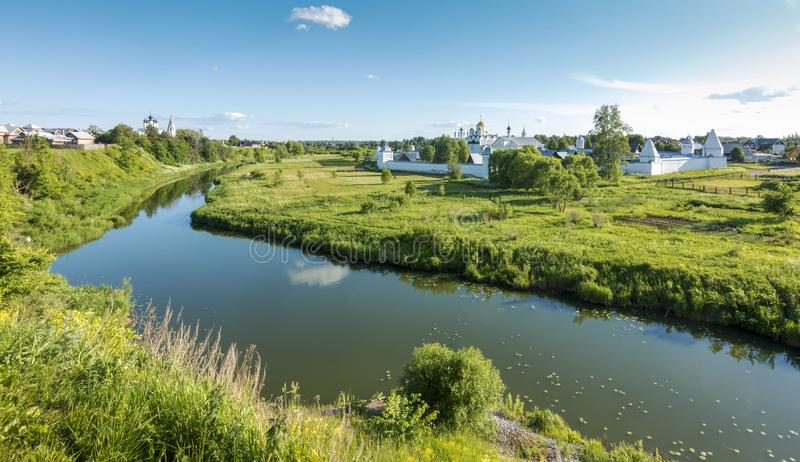 View of Pokrovsky Monastery in Suzdal, Russia stock images