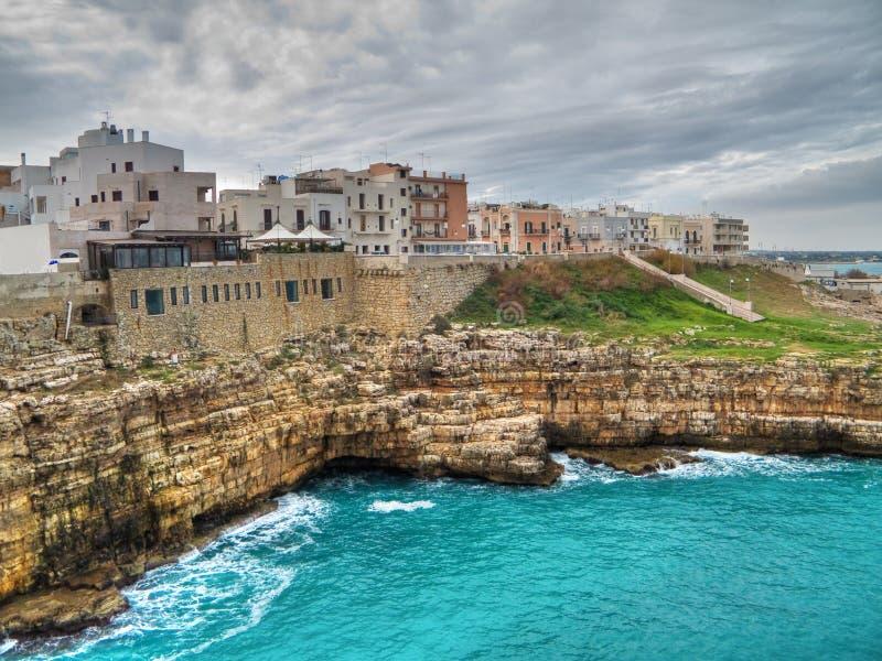Panoramic view of Polignano. Apulia. royalty free stock photo
