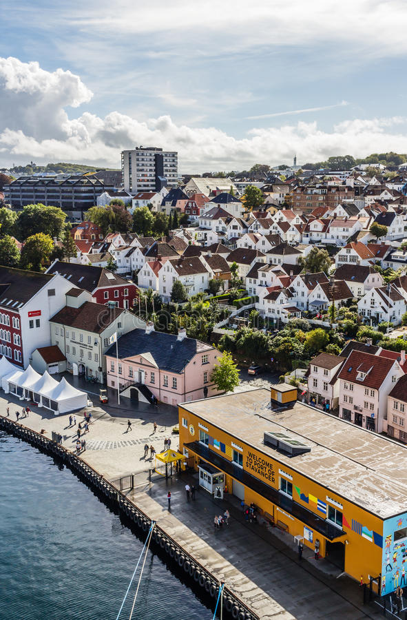 A Panoramic view of the port of Stavanger in Norway. royalty free stock images