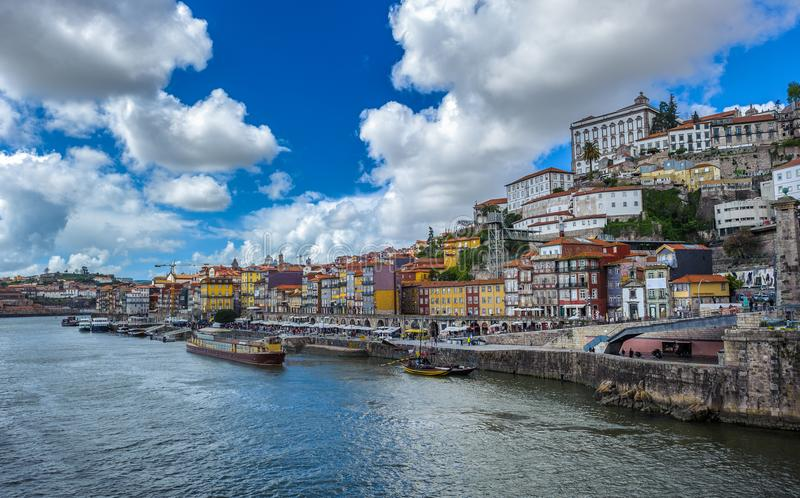 Panorama of Porto, Portugal stock photography
