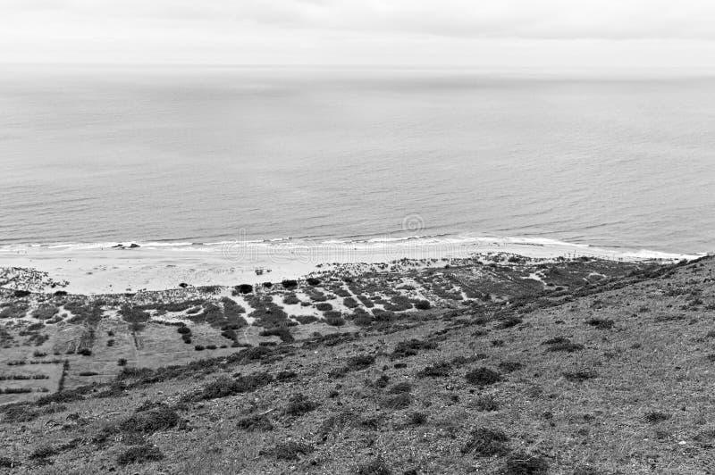 Panoramic view of Porto Santo beach Madeira Islands,Portugal. Panoramic view of Porto Santo beach Madeira Islands, Portugal stock photography