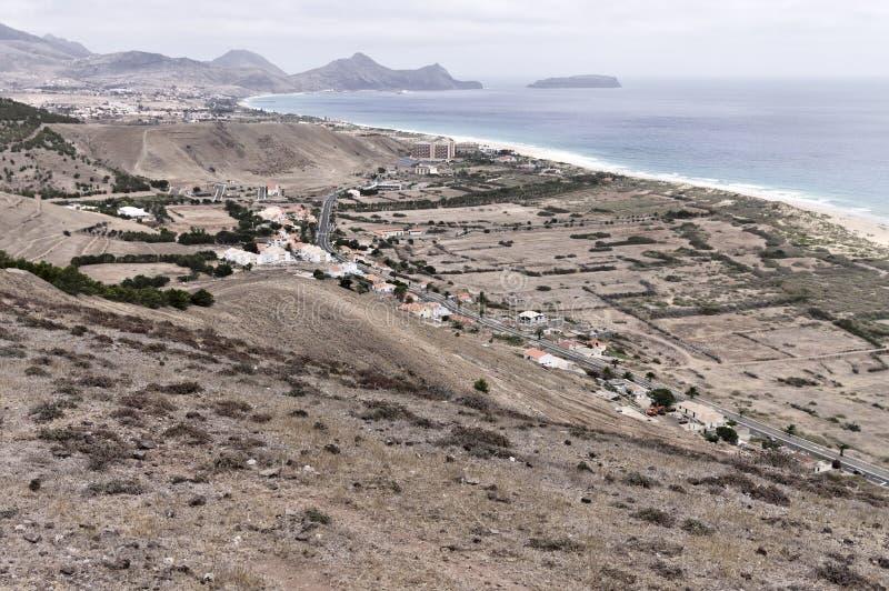 Panoramic view of Porto Santo beach Madeira Islands,Portugal. Panoramic view of Porto Santo beach Madeira Islands, Portugal stock photos