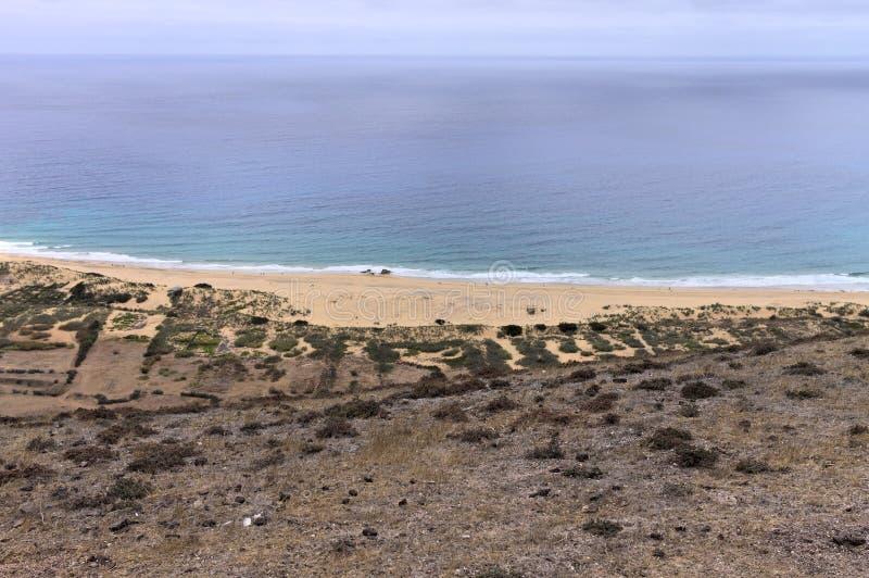 Panoramic view of Porto Santo beach Madeira Islands,Portugal. Panoramic view of Porto Santo beach Madeira Islands, Portugal stock images
