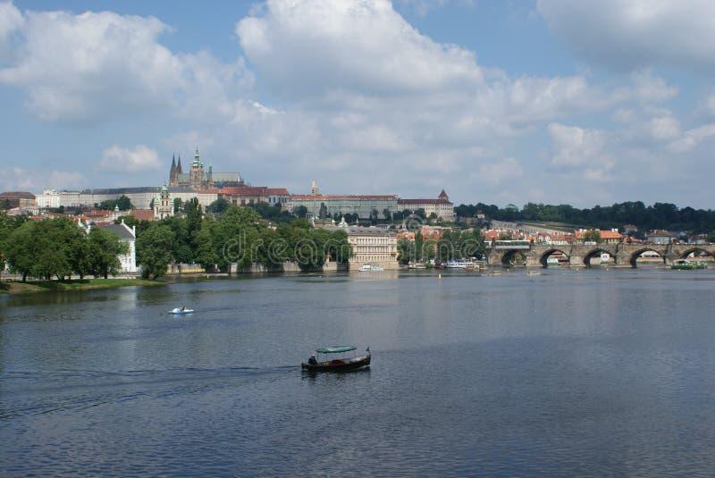 Download Panoramic view of Prague stock image. Image of church - 13526503