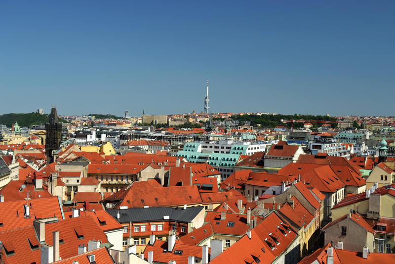 Download Panoramic View Of Prague - Czech Republic - Europe Stock Image - Image: 25661053
