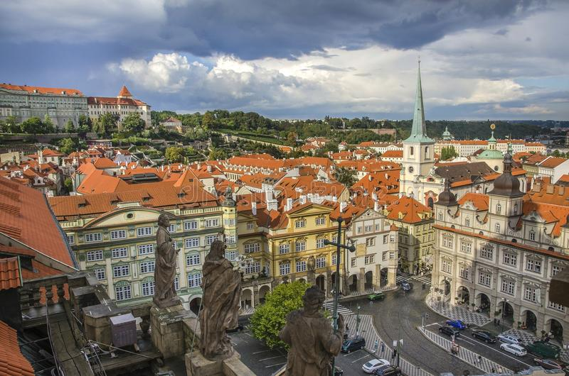 Panoramic view of Prague royalty free stock images