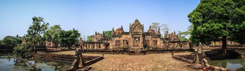 Panoramic view of the Prasat Muang Tam temple around Nang Rong, Buriram, Thailand. stock images