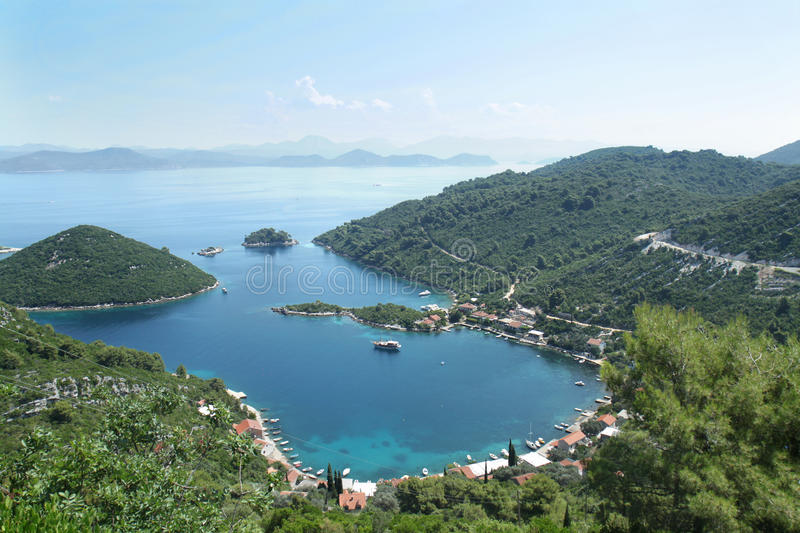 Download Panoramic View Of The Prozura Bay, Island  Mljet Stock Image - Image: 25853599
