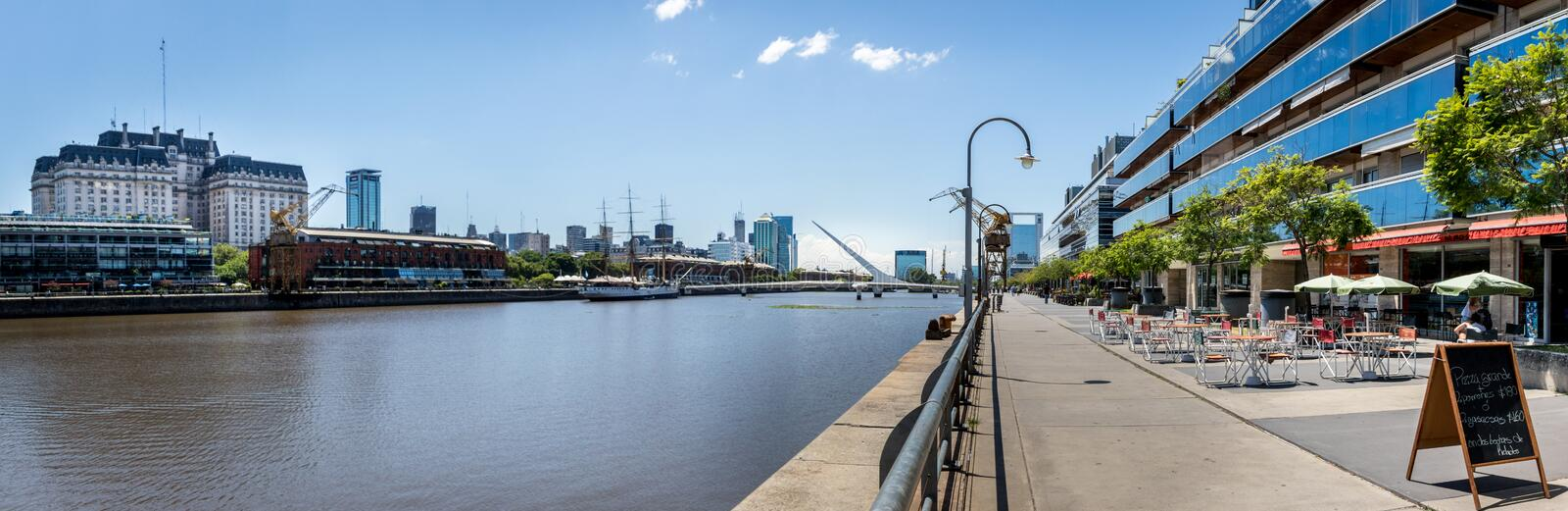 Panoramic View of Puerto Madero - Buenos Aires, Argentina. Panoramic View of Puerto Madero in Buenos Aires, Argentina royalty free stock photo