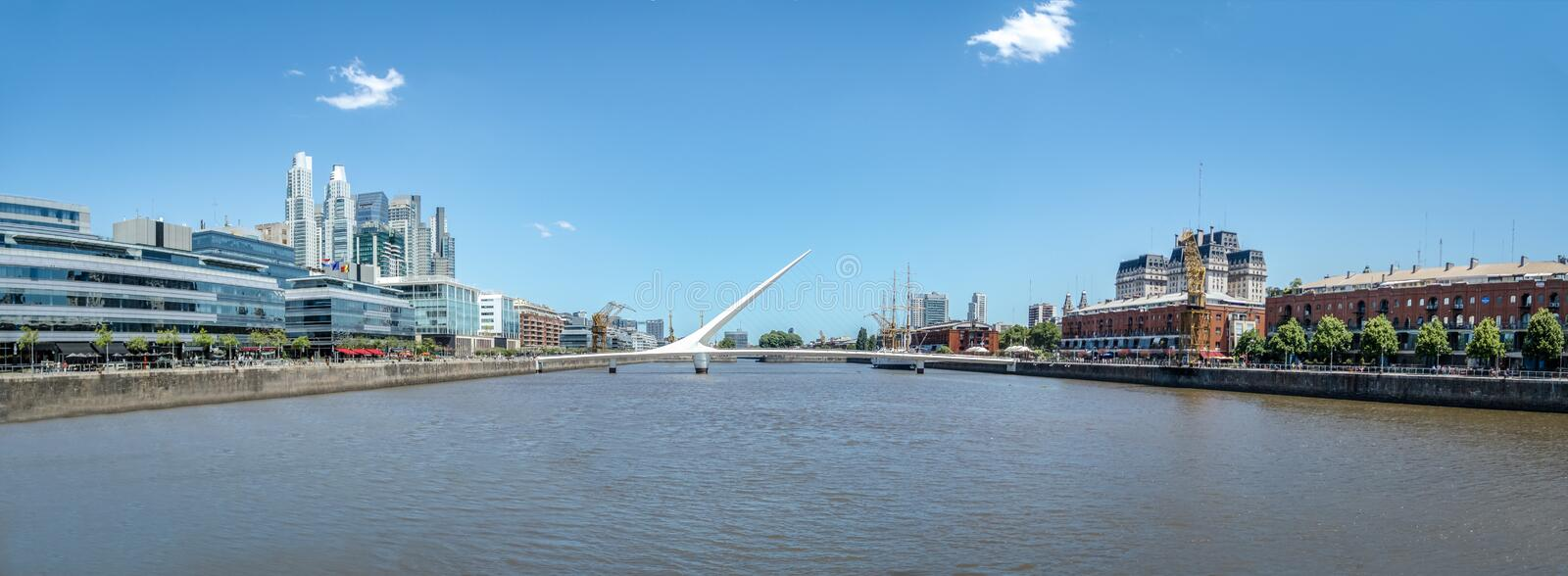 Panoramic view of Puerto Madero - Buenos Aires, Argentina stock photos