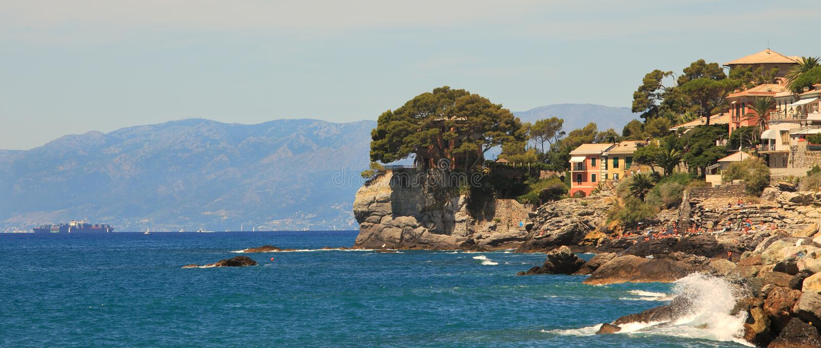 Download Panoramic View On Recco-popular Touristic Resort. Stock Image - Image: 19960733