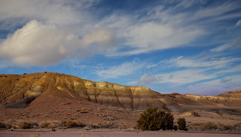 Panoramic view of the red rocks area in northern New Mexico. View panoramic of the red rocks area in northern New Mexico stock image