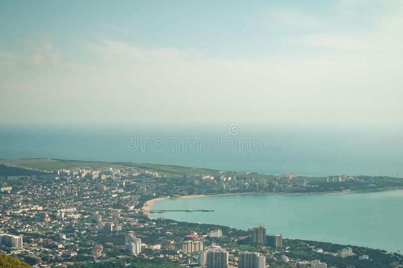 Panoramic view of the resort city of Gelendzhik, Russia. Panoramic view of the resort city of Gelendzhik, Russia royalty free stock image