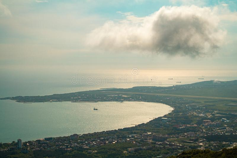 Panoramic view of the resort city of Gelendzhik, Russia. Panoramic view of the resort city of Gelendzhik, Russia royalty free stock images