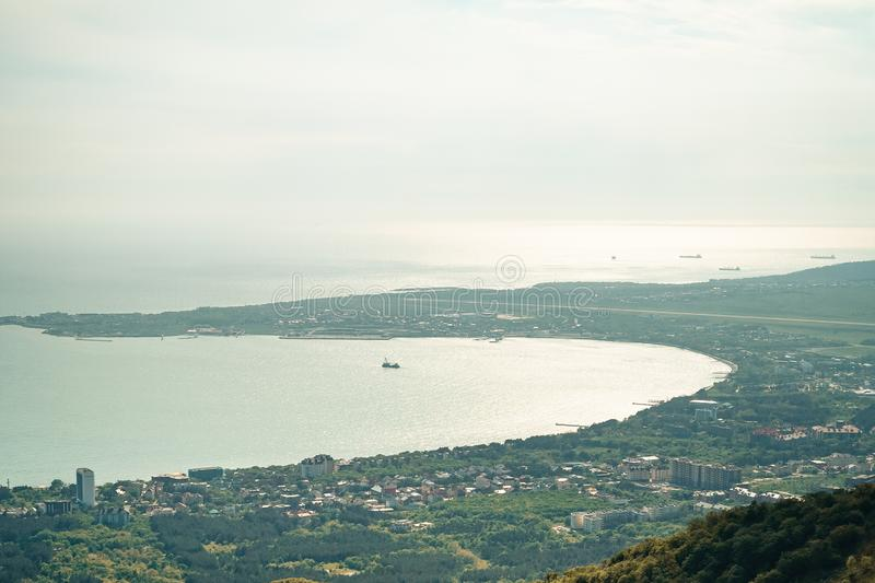 Panoramic view of the resort city of Gelendzhik, Russia. Panoramic view of the resort city of Gelendzhik, Russia stock images
