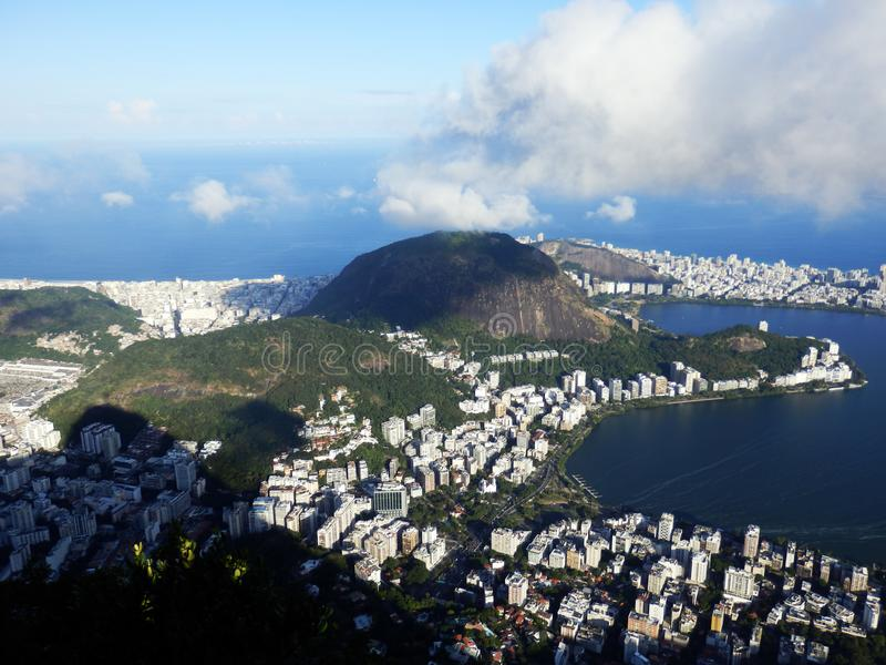 A panoramic view of Rio de Janeiro, Brazil. The picture is taken from Mirante Dona Marta stock images