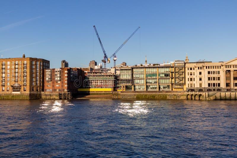 Panoramic view of River Thames London UK royalty free stock image