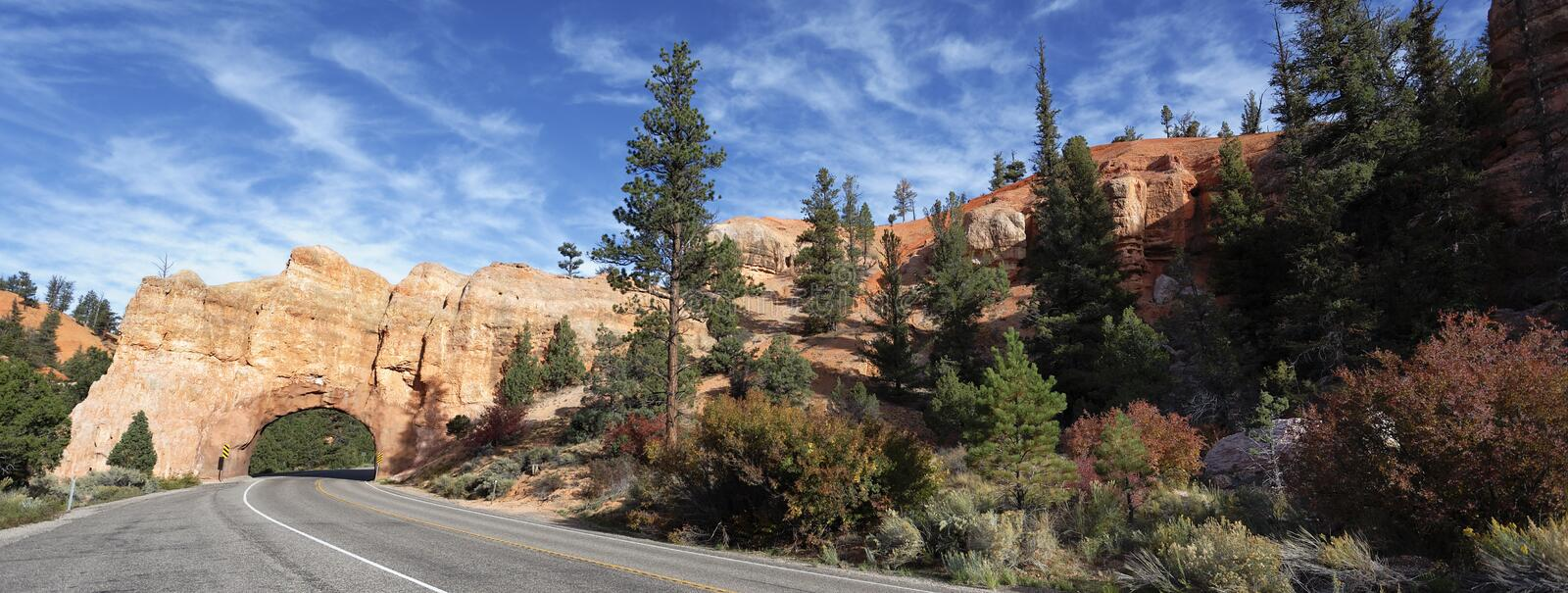 Download Panoramic View Of Road To Bryce Canyon Stock Photo - Image: 28532652