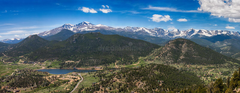 Panoramic view of Rocky mountains, Colorado, USA royalty free stock image
