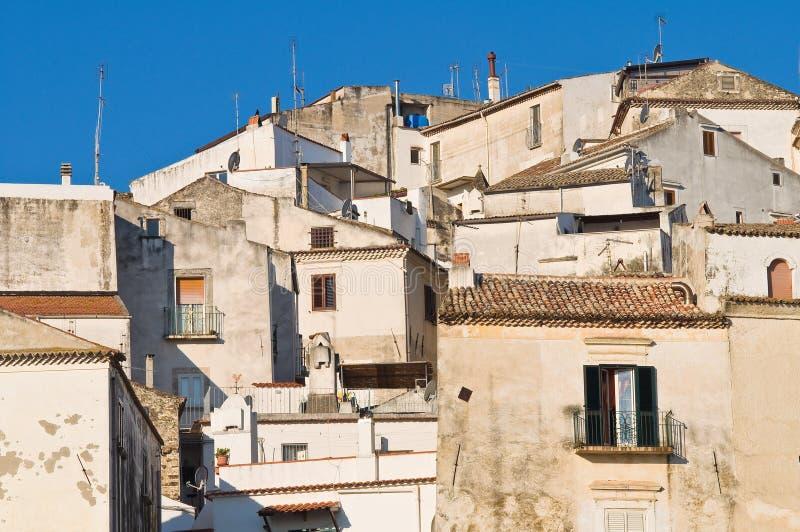 Panoramic View Of Rodi Garganico. Puglia. Italy. Stock Photography