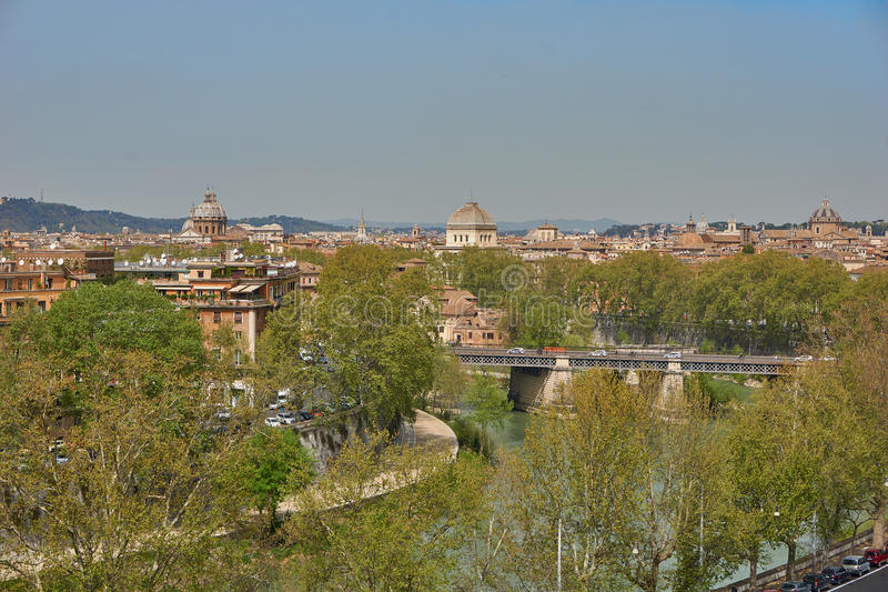 panoramic view of rome royalty free stock photo
