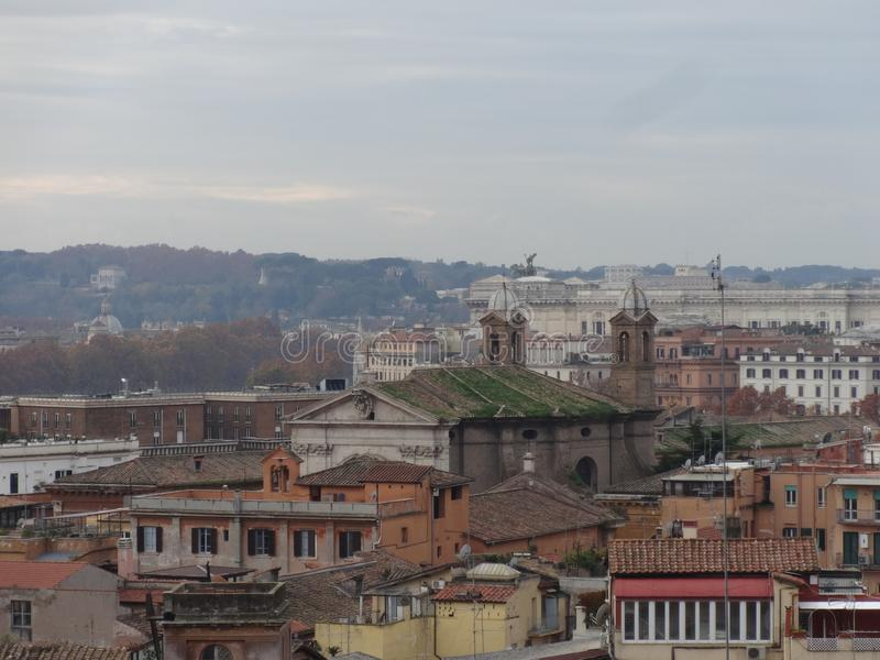 Panoramic view of Rome´s skyline 4 royalty free stock images