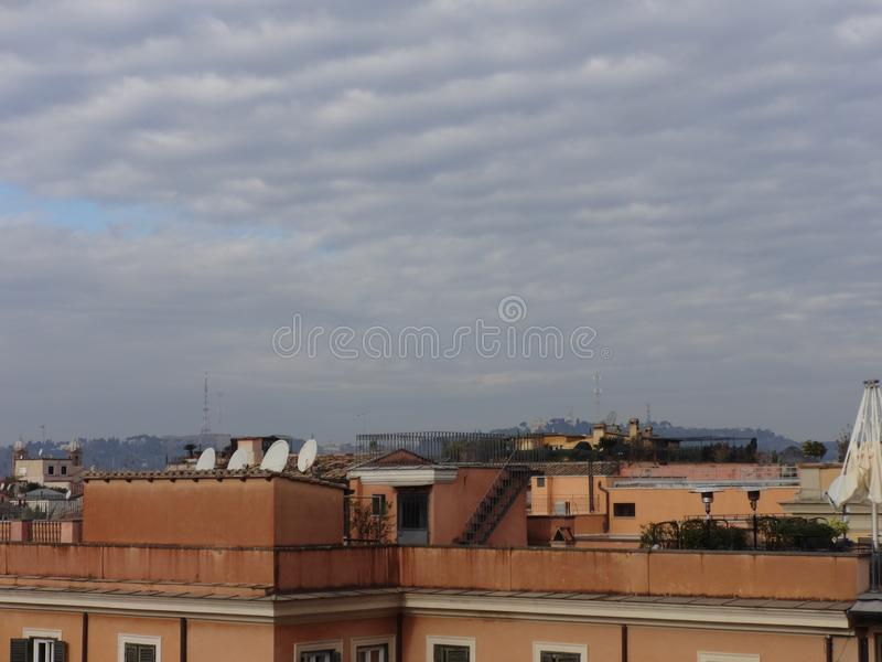 Panoramic view of Rome´s skyline 9 stock photography