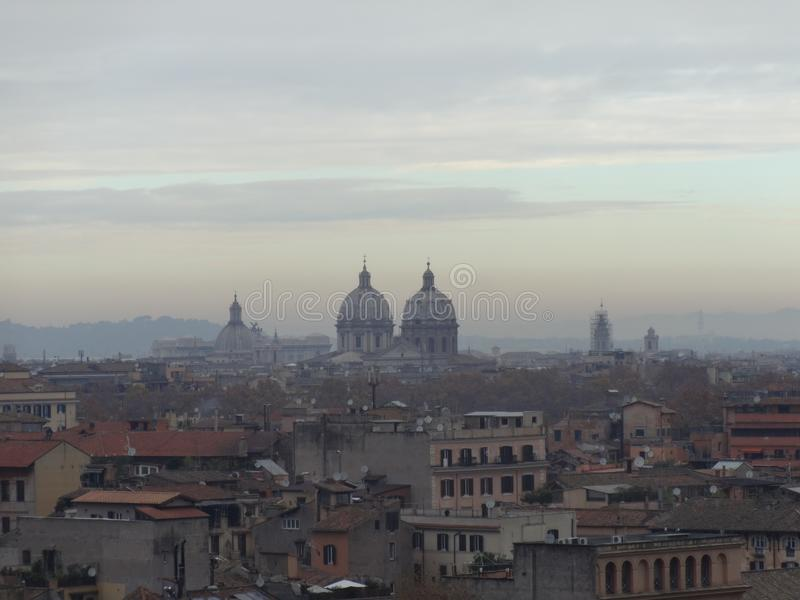 Panoramic view of Rome´s skyline 2 royalty free stock images