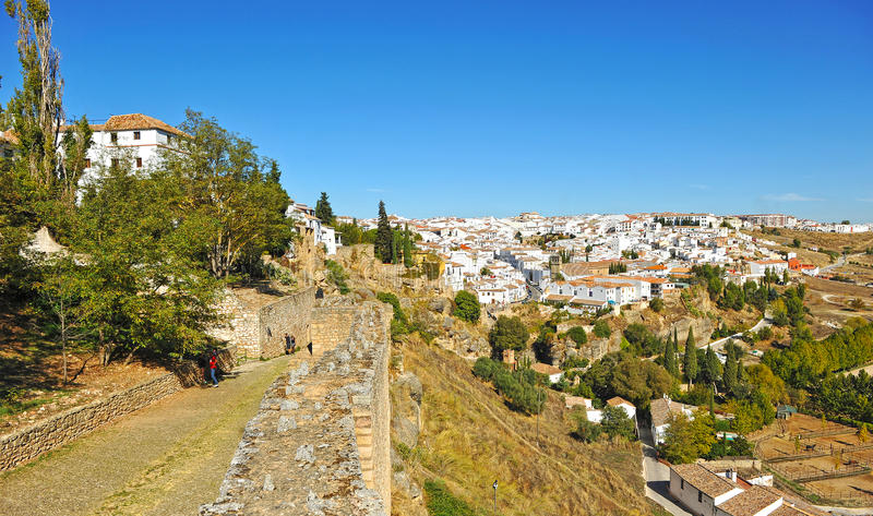 Panoramic view of Ronda, Malaga province, Spain stock images
