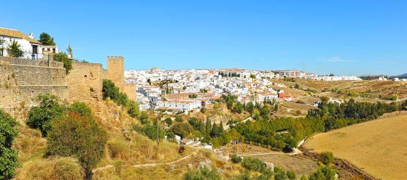 Panoramic view of Ronda, Malaga province, Spain royalty free stock photos