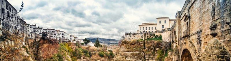 Panoramic view Ronda, Province of Malaga, Andalusia, Spain stock image