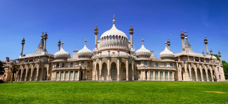 Royal Pavilion panorama Brighton East Sussex Southern England UK royalty free stock photo