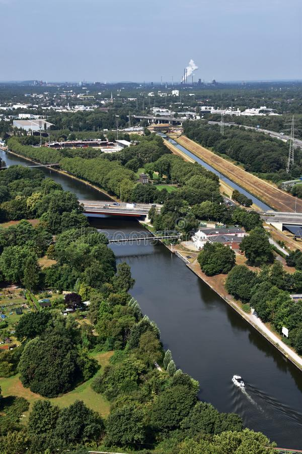 Panoramic view of Ruhr Valley, Germany royalty free stock photography
