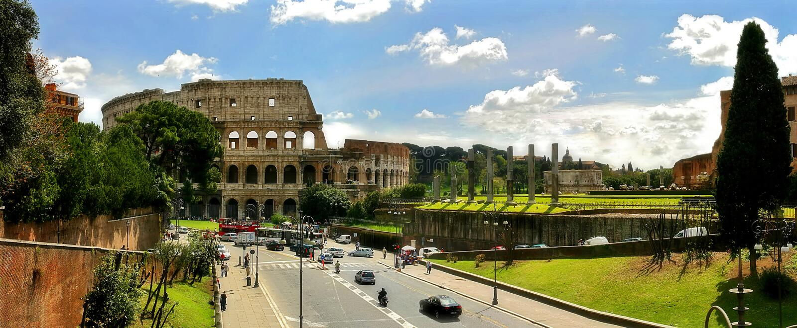 Download Panoramic View On Ruins Of Coliseum In Rome. Royalty Free Stock Photography - Image: 2318647