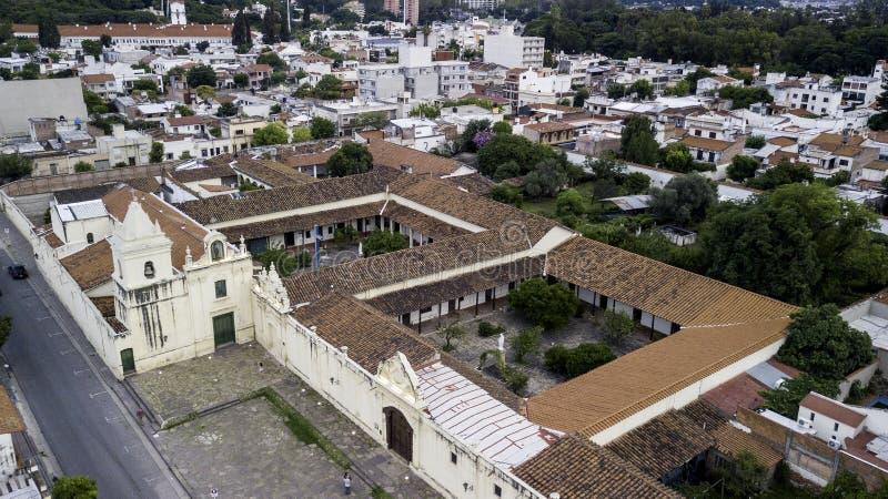 Panoramic view of the San Bernardo Convent, Salta. Argentina.  royalty free stock images